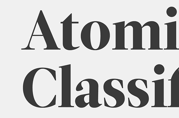 Atomic Classification | Trent Walton